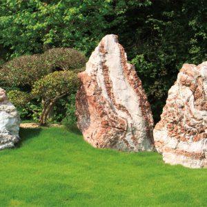 北海道産日高赤石組石