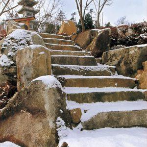 石段(向原石)
