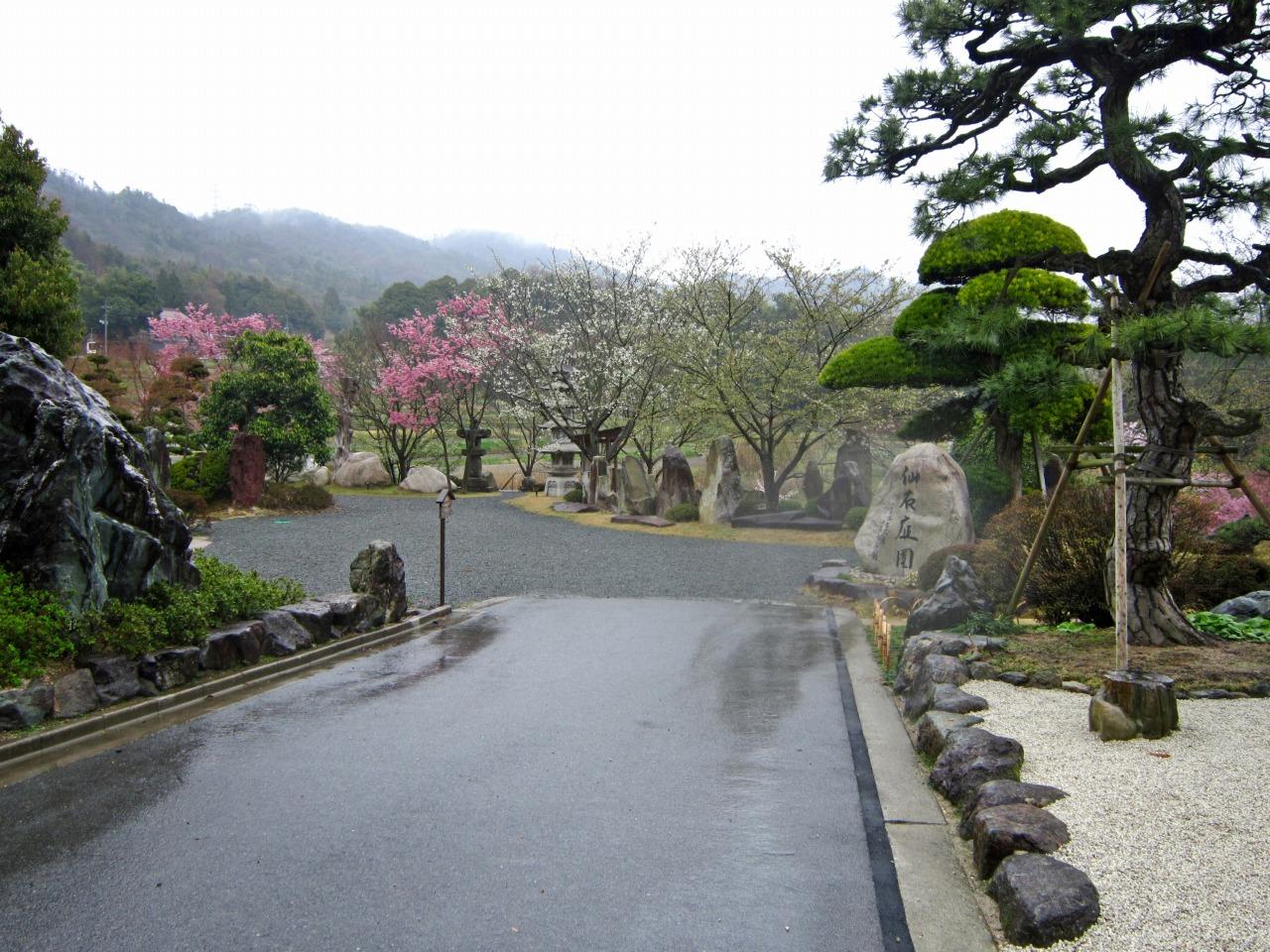 入口より庭園を望む