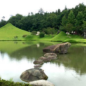 仙石富士と仙石湖